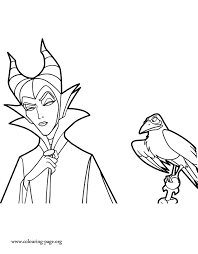 Free Maleficent To Color With Coloring Pages 4 And Itgod Me