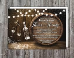 Printable Wine Tasting Bridal Shower Invitations Rustic Theme