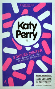 Design Poster Staples Katy Perry Center November 22 23 2011