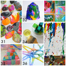 50 Easy Process Art Activities For Kids From Fun At Home With