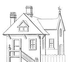 Digital Dunes Simple House Coloring Pages