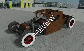 Rat Rod Pickup Obj Dwg Stp Sat 3D Model | CGTrader