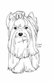 Printable Yorkie Coloring Pages Sketch Page