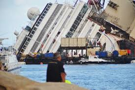 Cruise Ship Sinking Italy by Discovery Channel Races To Plant Flag In Costa Concordia Recovery