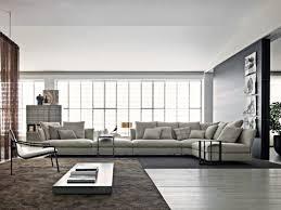 canap d angle design tissu très grand canapé d angle en tissu gris clair favorite interior