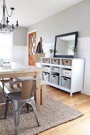 A Simple Storage Credenza Turns Into Functional Entryway AND Dining Room Buffet See