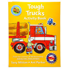 Tough Trucks Activity Book | Samko And Miko Toy Warehouse