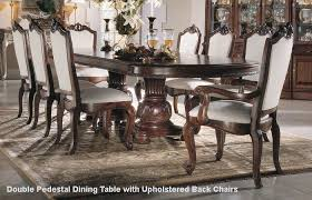 american drew bob mackie seven piece double pedestal table dining