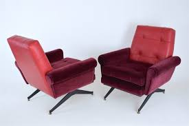Pair Of Mid-Century Italian Red Velvet & Leather Armchairs, 1950s ... Vintage French Midcentury Modern Armchairs Jean Marc Fray Breathtaking Mid Century Chairs Images Inspiration Surripuinet Danish 166 Senator By Ole Wanscher For Cado Antonin Kropek Esk Umleck Dlny Midcentury Chairs Courblocking And Piped Seams Rudolf B Glatzel Kill Intertional Best 25 Century Armchair Ideas On Pinterest Murphy Miller Inc Teak Lounge Chair Trevi Design I Need To Make Cushions Like This My Chair Make Rosewood Unknown Designer Lifa