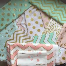 Coral And Mint Crib Bedding by Crib Bedding Pink Gold Mint Glitz Crib Sheet Crib