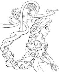 Printable Free Disney Princess Rapunzel Coloring Sheets For Kids Halloween Pictures