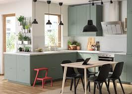 grau grüne ikea küche umweltfreundliches material ikea
