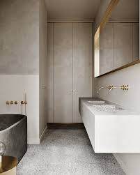 synergy in warm neutral hues bad inspiration badezimmer