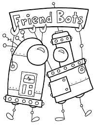Download Coloring Pages Robot Print Page Cute Transformers Sheet