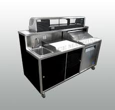 Mobile Self Contained Portable Electric Sink by Portable Sushi Bar