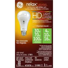 ge high definition 100 w equivalent soft white 3 way bulb a21 led