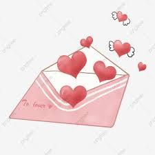 Carta De Amor Rosa Forma De Corazón Rojo Ilustración De
