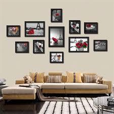 schwarz weiß rot farbe landschaft wand malerei kein rahmen nordic leinwand kunst bilder dekorative mural poster für wohnzimmer