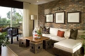 wohnzimmer mit backsteinmauer puzzle zuhause innenräume