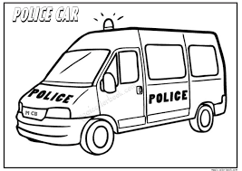 Police Car Free Coloring Pages 02