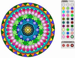 Free Color Mandala Online At Food Coloring Mandalas Page Pages 12