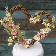 Rustic Country Heart Cake Topper