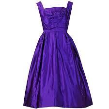 1950 u0027s pierre balmain haute couture purple satin party dress and
