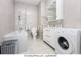 modernes weißes badezimmer mit canstock