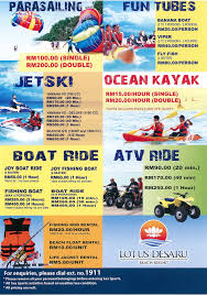 SEA SPORTS PRICE LIST