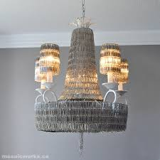 Making The Paper Clip Chandelier Im Really Enjoying Our New This Is How It Was Made