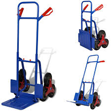 6 WHEEL FOLDING Sack Truck Hand Stair Climber Cart Trolley With 150 ...