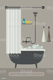 badezimmer interieur mit bad stock vektor und mehr bilder ausrüstung und geräte