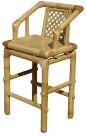 chaise de bar en bambou
