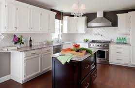 white cork flooring kitchen contemporary with bold color wall and