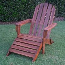 Lawn Chair With Footrest by International Caravan Highland Acacia Adirondack Patio Chair With