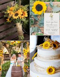 Country Rustic Outdoor Sunflower Wedding Ideas