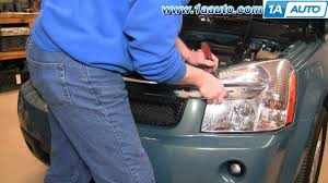 how to install replace headlight and bulb chevy equinox 05 09