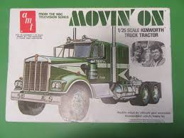 Movin' On AMT VINTAGE 1/25 Scale Kenworth Truck Tractor Complete In ...