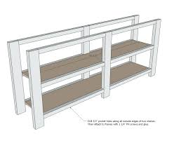 Diy Rustic Tv Stand Console Tables Table Plans Free White X Projects Shaker Style