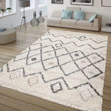 teppich wohnzimmer hochflor skandi design