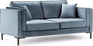milo casa sofa samt 2 sitzer hellblau 160 x 92 x 88 cm
