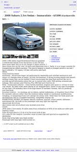 100 Craigslist Reno Cars And Trucks By Owner Would You Pay 5500 For A 300K 2000 Subaru Impreza 25 RS Well