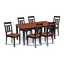 M&D Furniture Sunderland Black/Cherry Dining Set With Dining Table ... Shop Valencia Black Cherry Ding Chairs Set Of 2 Free Shipping Chair Upholstered Table Ding Set Sets Living Dlu820bchrta2 Arrowback Antique And Luxury Mattress Fniture Dover Round Table Md Burlington Blackcherry With Brookline With Indoor Teak Intertional Concepts Extendable Butterfly Leaf Amazoncom East West Nicblkw Wood Addison Room Collection From Coaster X Back C46 Homelegance Blossomwood 0454