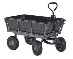 100 Flatbed Hand Truck Sandusky 1200 Lb Capacity Muscle Cart Steel Dump Dolly