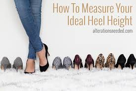 How To Measure Your Ideal Heel Height