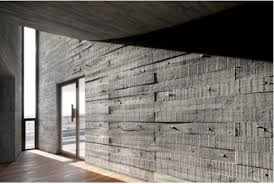 100 Concret Walls Cast Insitu Concrete Walls Are Imprinted With The Grain Of
