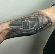 100 Semi Truck Tattoos Tattoo By Symeon Limited Availability At
