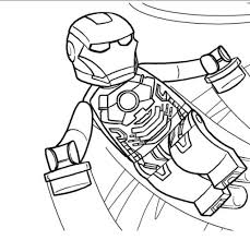 Lego Iron Man Coloring Pages 14