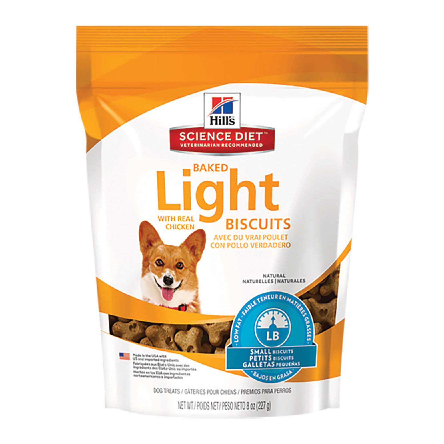 Hill's Science Diet Baked Light Biscuits with Real Chicken Dog Treats - 8oz