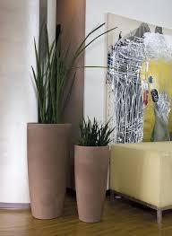 blumentopf pflanztopf ø 43 höhe 90 cm weiß matt 23 l inhalt für innen und außen aus hochwertigem polyethylen
